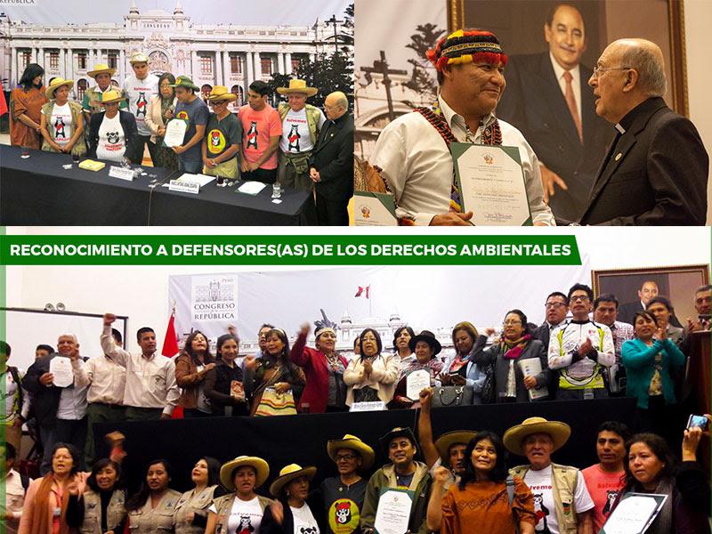 Monseñor Pedro Barreto SJ  y Radio Marañón recibieron reconocimiento del congreso
